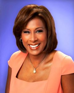 News anchor, Pat Harvey