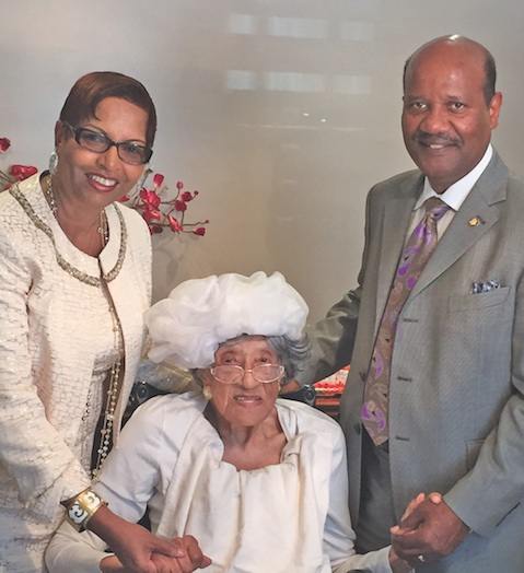 FAME First Lady Florence Boyd, Ruby Norman and FAME Pastor J. Edgar Boyd (photo by O.D. Threatt)