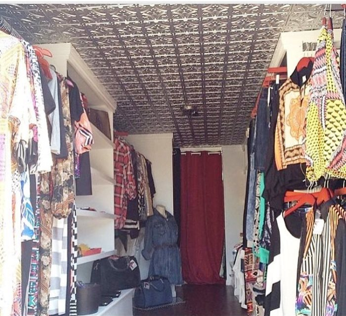Sherika's boutique offers clothing that are not restocked or one-of-a-kind fashions for customers.