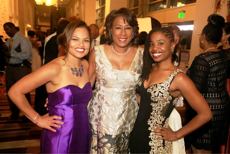 Humanitarian of the Year Pat Harvey celebrates with Event Chair Dr. Ana Lopes Johnson and ABWP President Dr. Valencia Walker.