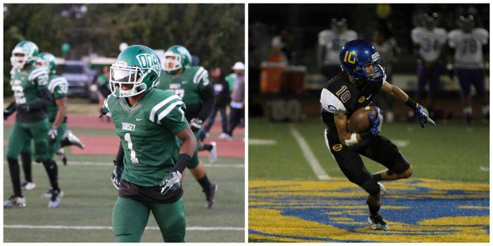 (left photo: Jevone Moore/ Full Image 360. Right photo: Ken Brooks/ T.G.Sportstv1)