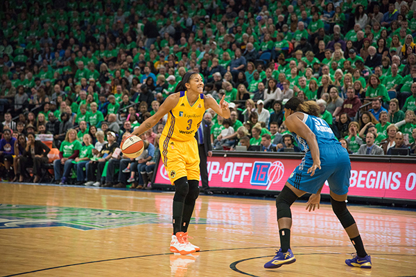 Candace Parker finished the season third in the WNBA in assists per game (4.9) (Brian Few Jr./T.G.Sportstv1)