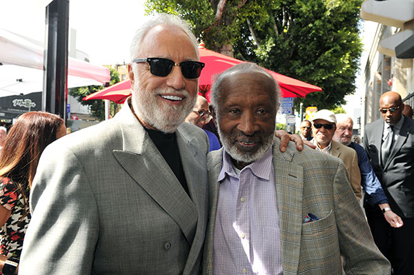CLARENCE AVANT AND DANNY BAKEWELL SR. AT THE HOLLYWOOD WALK OF FAME ON FRIDAY OCTOBER 7, 2016. PHOTOS BY VALERIE GOODLOE