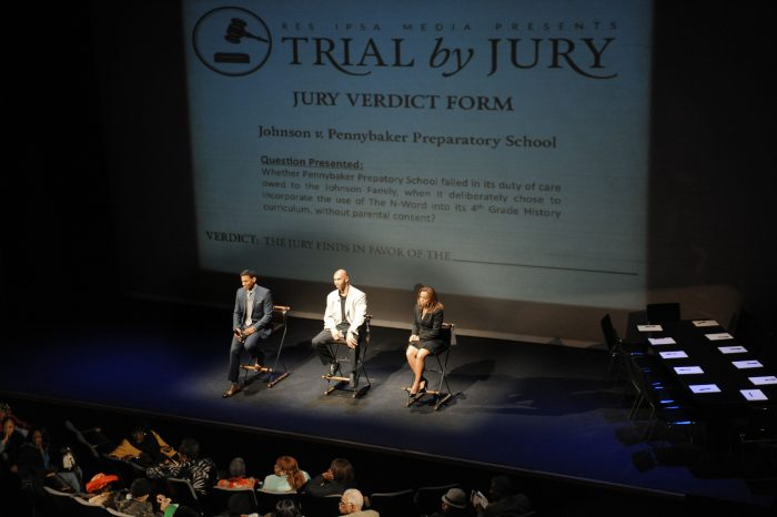 "RES IPSA MEDIA PRESENTS TRAIL BY JURY ""THE CASE OF THE N WORD"" WAS HELD AT THE NATE HOLDEN PERFORMING ARTS CENTER IN LOS ANGELES CALIFORNIA ON FEBRUARY 20, 2015 (Photo by Valerie Goodloe )"