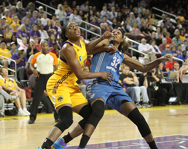 Forward Nneka Ogwumike earned 21 points in game three of the WNBA Finals (Ken Brooks/ T.G. Sportstv1)