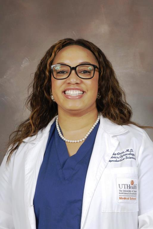 Dr. Tamika Cross serves as the chief resident for obstetrician and gynecologist residents at the Harris Health Lyndon B. Johnson Hospital (photo courtesy of Dwight Andrews/McGovern Medical School). (Courtesy Photo)