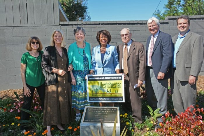 Pictured above with Congresswoman Waters (center) are WSIA members (left to right) Sue Piervin , Sheila Mickelson, Barbara Musella, John Ruhlen, Don Duckworth and Marc Hoffman. (Courtesy Photo)