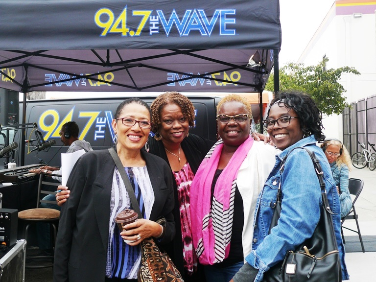 (From Left): StarQuest producer Pat Shields and 94.7 The Wave's Pat Prescott at Taste of Soul Media Day Photo by Brian W. Carter