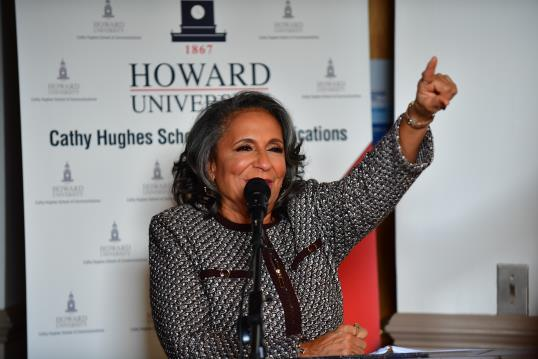 Radio One, Inc. Founder and Chairperson Cathy Hughes speaks at the ceremony of the Cathy Hughes School of Communications at Howard University on Sunday, October 23, 2016 in Washington. Radio One, Inc. Founder and Chairperson Cathy Hughes speaks at the ceremony of the Cathy Hughes School of Communications at Howard University on Sunday, October 23, 2016 in Washington. (courtesy photo)