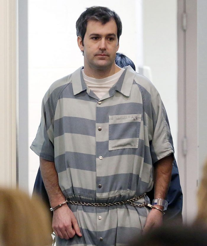 FILE - In a Thursday, Sept. 10, 2015, file photo, former North Charleston police office Michael Slager, is lead into court, in Charleston, S.C. Jury selection begins Monday, Oct. 31, 2016, in the murder trial of Slager charged with shooting Walter Scott, an unarmed black motorist in April 2015. (Grace Beahm/The Post And Courier via AP, File)