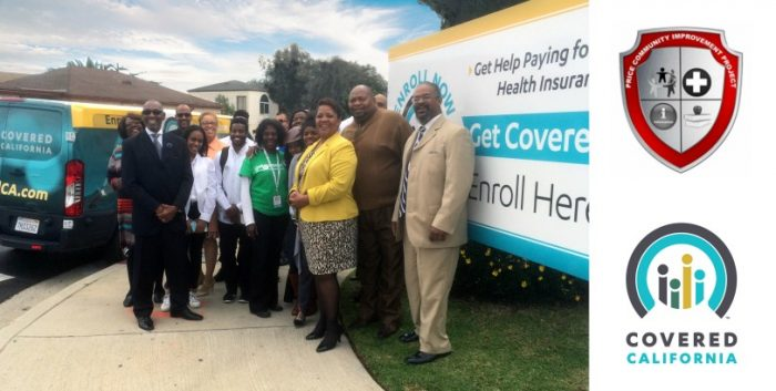 Covered California enrollment center staff and Price Chapel members. (courtesy photo)