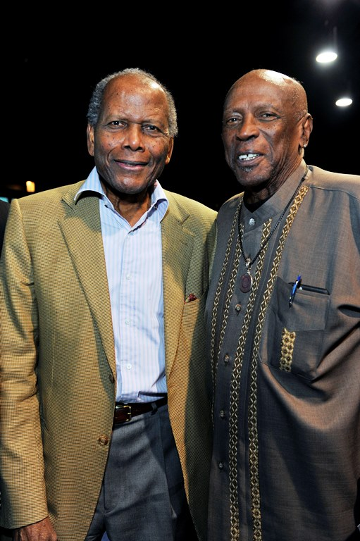 Actors Sidney Poitier and Lou Gossett, Jr. (Photos by Valerie Goodloe)