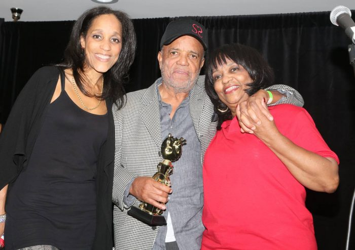 (l-r) Karla Gordy Bristol, Barry Gordy and Iris Gordy