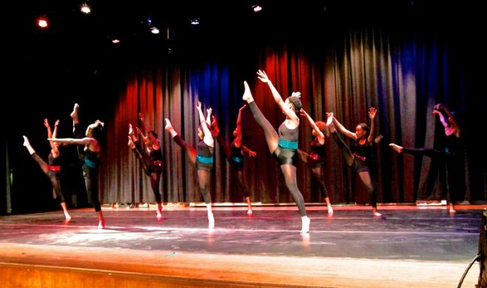 Students grace the stage of Dorsey High with dance. (Photo by E. Mesiyah McGinnis)