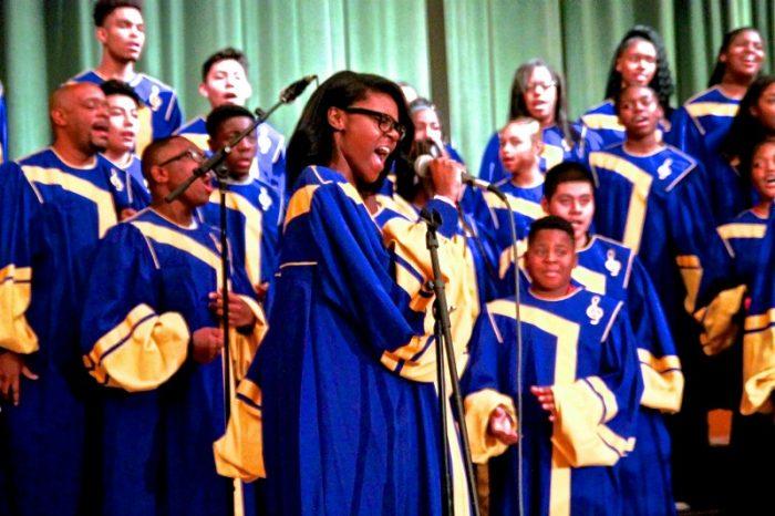 The Crenshaw Choir shows off their talents at NAACP/LAUSD extravaganza. (Photo by E. Mesiyah McGinnis)