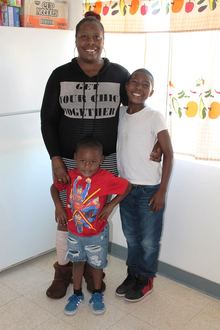 Crystal Beacham and her two sons