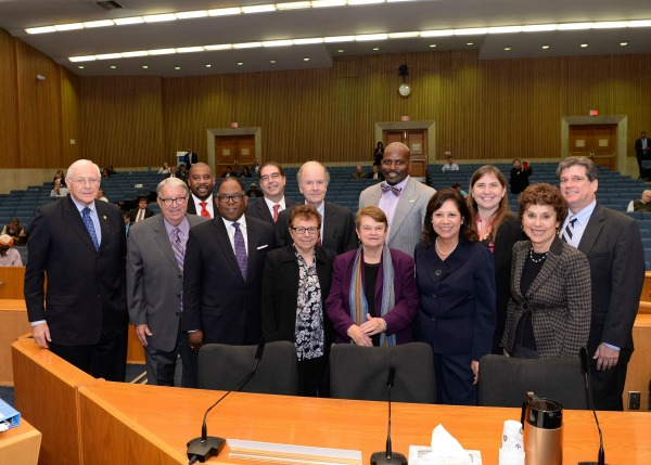 Photo of the Board of Supervisors with the newly appointed Civilian Oversight Commission. (courtesy photo)