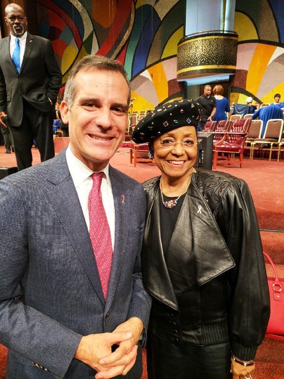Mayor Eric Garcetti & First Lady Mae Blake