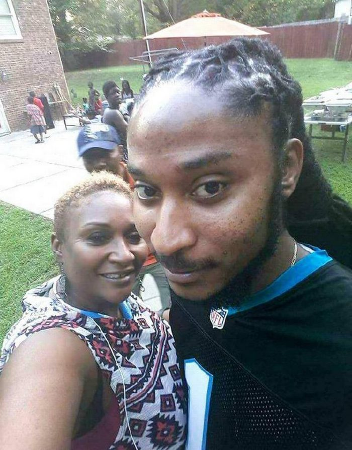 Vivian Carr, left, and her son Justin Carr. Carr was fatally shot during a protest in uptown Charlotte. An autopsy into Carr's death was released Friday. (Courtesy photo)