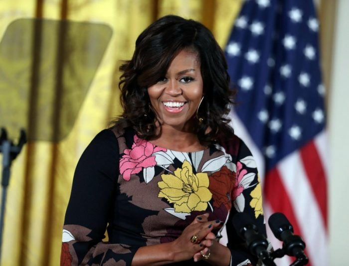 First lady Michelle Obama speaks as she welcome community leaders from across the country to celebrate the successes and share best practices to continue the work of the Mayor's Challenge to End Veterans' Homelessness East Room of the White House complex in Washington, Monday, Nov. 14, 2016. (AP Photo/Manuel Balce Ceneta)