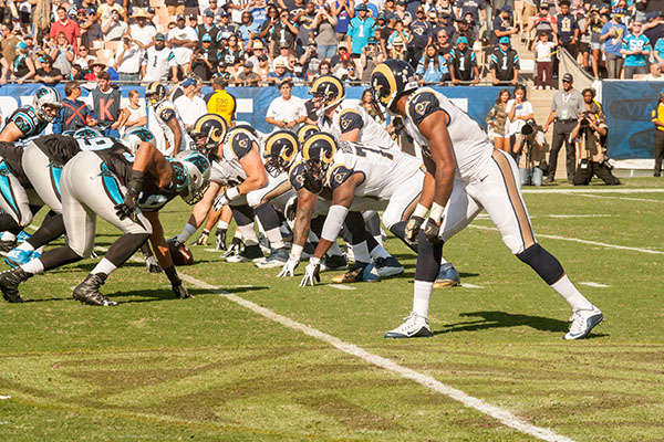 The Rams have a four-game losing streak going into their game against the New York Jets (Robert Torrence/L.A. Sentinel)