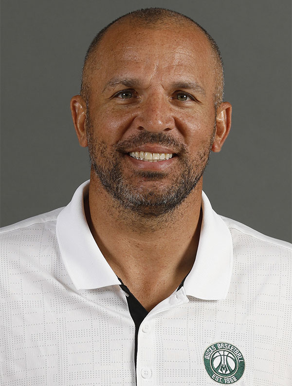 This a headshot of basketball head coach Jason Kidd. Jason Kidd is an active basketball head coach for the Milwaukee Bucks as of Monday, Sept. 26, 2016 in the NBA. (AP Photo/Jeffrey Phelps)