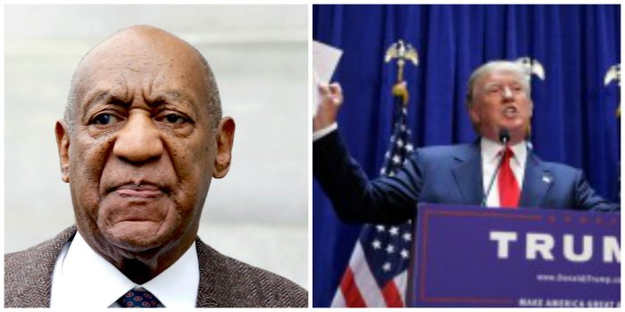 From left to right: Comedian and actor Bill Cosby and Republican candidate Donald Trump (courtesy photos)