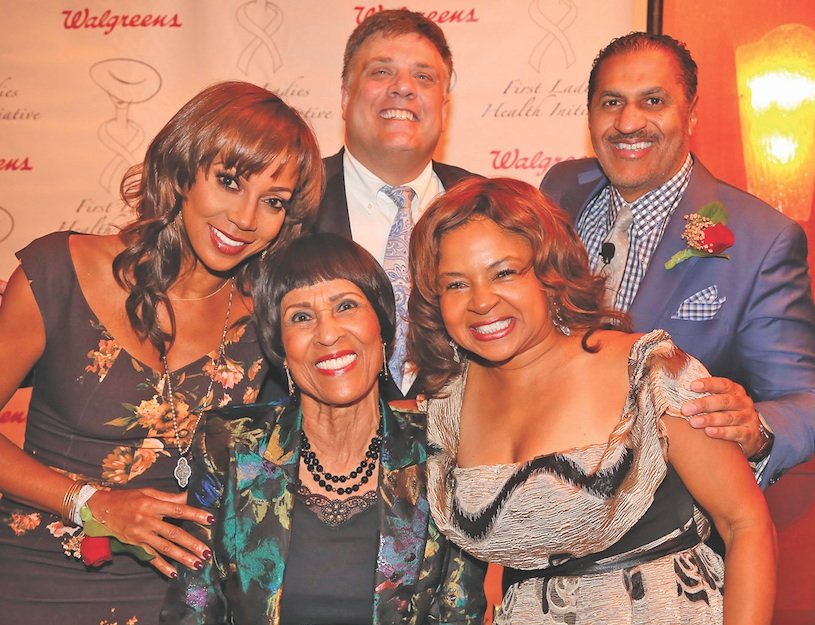 From left, Holly Robinson-Peete, Dr. Betty Price, John Gremer, Tracey Alston and Aundrae Russell. (photo by Steven Williams)