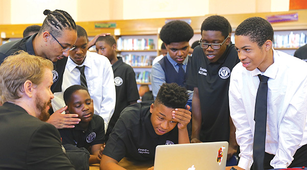 Tommy Hanks of Hobnob introduced the Alpha Esquire boys to coding. (Photo Courtesy of Hobnob)