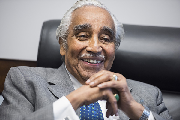 UNITED STATES - DECEMBER 02: Rep. Charlie Rangel, D-N.Y., is interviewed by Roll Call in his Rayburn Building office, December 2, 2016. (Photo By Tom Williams/CQ Roll Call) (CQ Roll Call via AP Images)