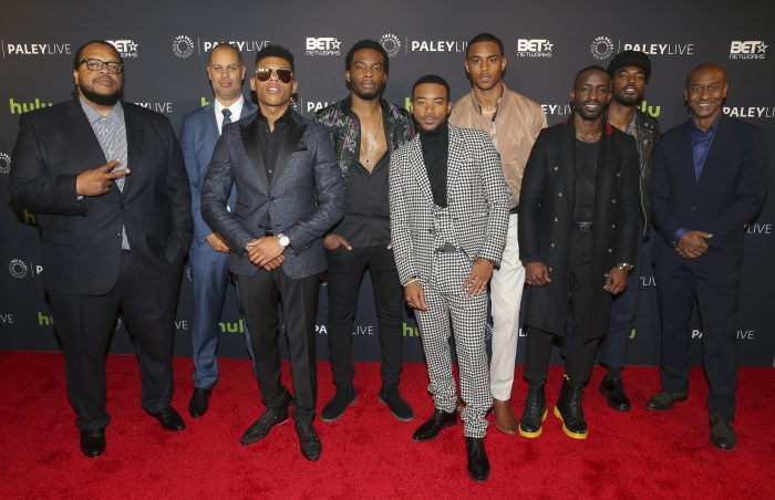 Cast and crew of The New Edition Story pose for a picture at the Paley Center for Media, December 14, 2016. (Photo Credit: Imeh Bryant for The Paley Center)