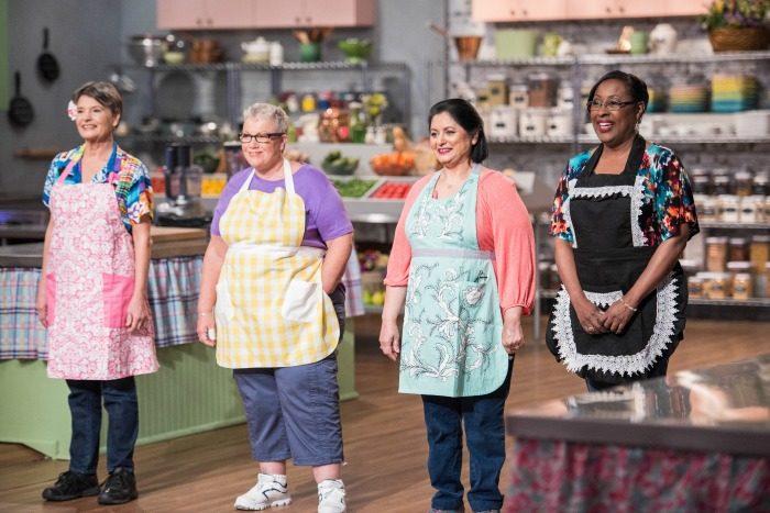 Food Network's Clash of the Grandmas competitor (l to r) Joan Channon, Dale Roland, Neera Sharma, Veronica Hendrix (photo courtesy: Food Network)