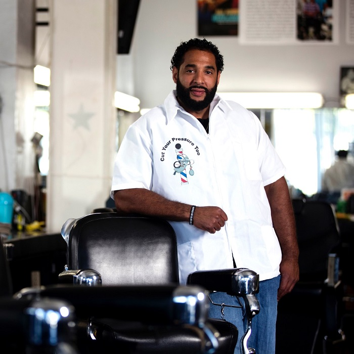 "Owner of ""A New You Barber and Beauty Salon"" Eric Muhammad (courtesy photo)"