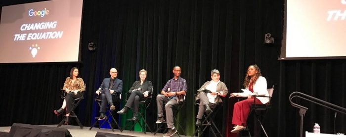 Google panel talks about diversity and changing the equation. (Photo provided by Daraiha Greene)