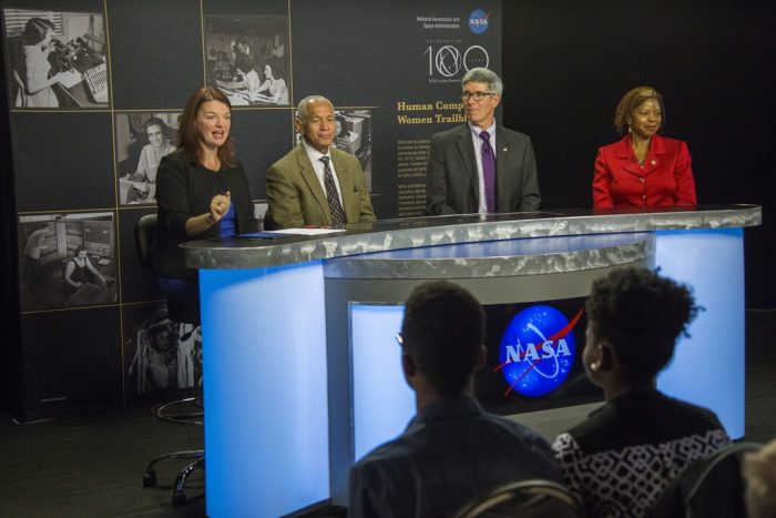 NASA experts discuss Hidden Colors film and working at NASA.(photo by Shannen Hill)
