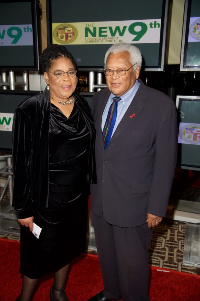 L-R Founder of A New Way of Life Project Susan Burton and American Activist Reverend James M. Lawson Jr.