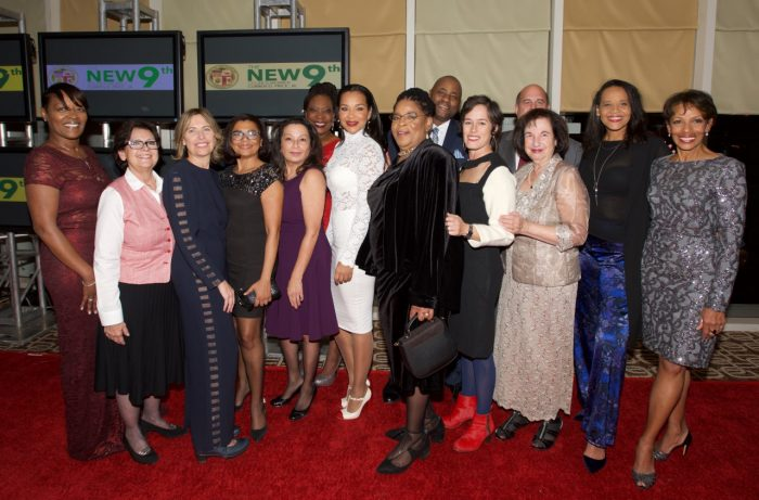 L-R: Celebrity Presenter of the Flozelle Woodmore Memorial Award, Actress Lisa Raye McCoy, A New Way Of Life Re-Entry Project Founder, Susan Burton, and ANWOL Board (Courtesy Photo)