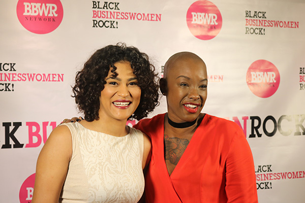 Social Media Marketing Trainer Natalie Gouche and Keynote Speaker Tieko Nejon pictured at Black Business Women Rock (BBWR) event in Los Angeles December 10, 2016.
