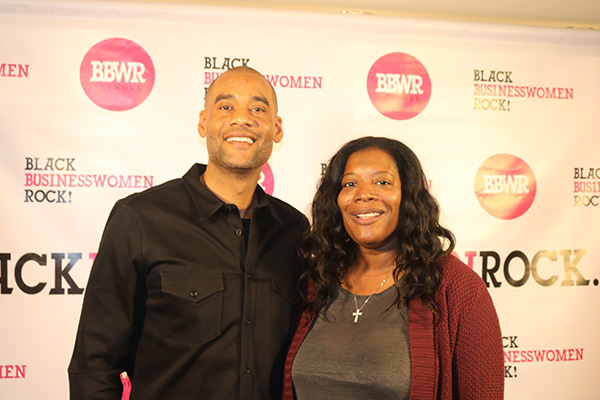 Buffalo Wild Wings Franchise Owner Karim Webb and Leah Daniels Butler pictured at Black Business Women Rock (BBWR) event in Los Angeles December 10, 2016.