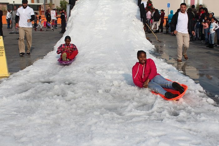 The youth enjoyed themselves with snow ball fights and snow sledding. (Courtesy Photo)