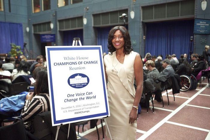 Mother of Many CEO Daphne Bradford at President Obama's final Champions of Change reunion in Washington, D.C (Photo Credit: Alex Blyer, Advent Films)
