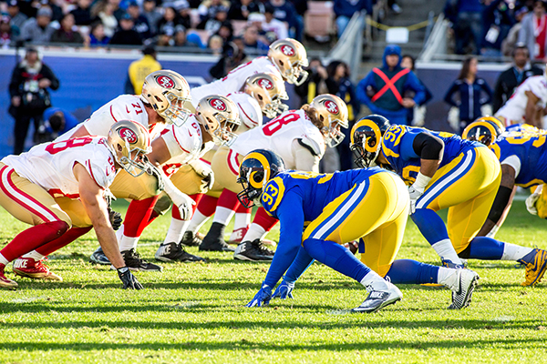 The San Francisco 49ers swept the Los Angeles Rams this season (Robert Torrence/L.A. Sentinel)