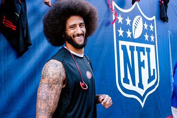 Quarterback Colin Kaepernick had two touchdown passes and one interception (Robert Torrence/ L.A. Sentinel)