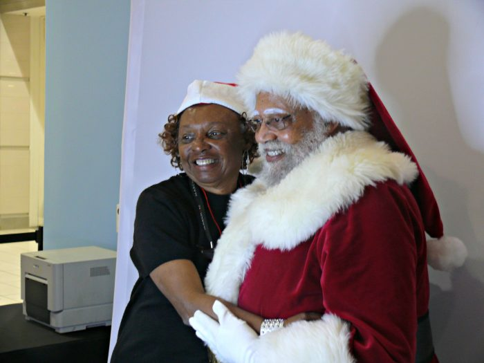 Santa has a true believer in Patricia P. (Photo by Brian W. Carter)