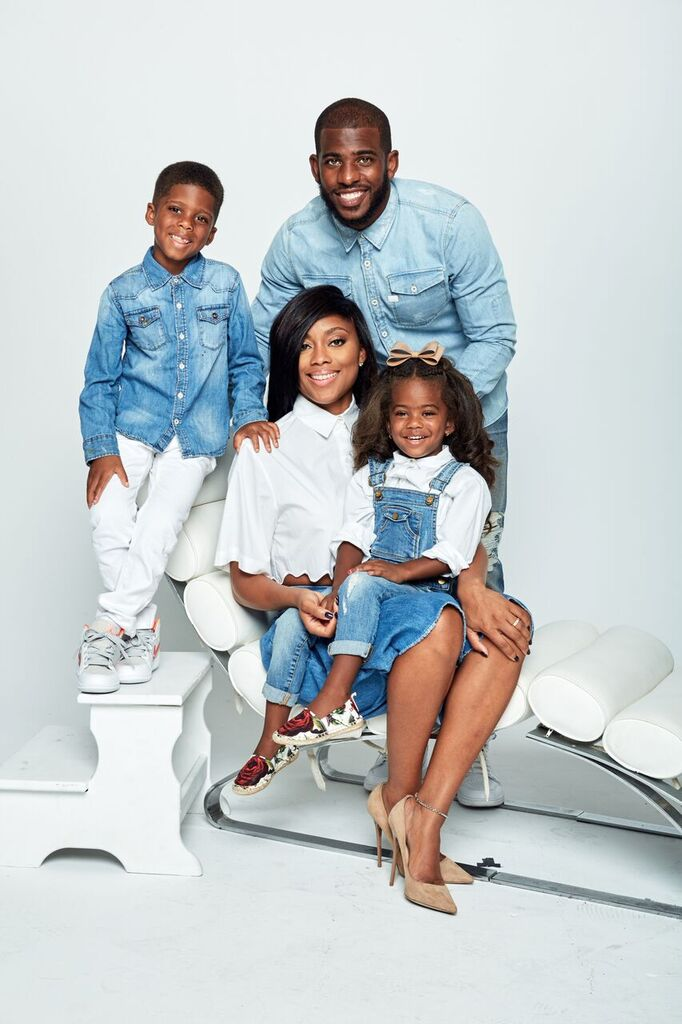 Chris Paul, Sr. pictured with wife Jada and children Chris Jr. and Camryn. (Courtesy Photo)