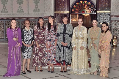 "North America Rights Only, Marrakesh, Moroco 6/2816-Princess Lalla Hasna, a guest, Malia and Sasha Obama, US First Lady Michelle Obama, Princesses Lalla Salma, Lalla Meryem, and Lalla Asmaa attend an iftar dinner (ramadan meal) offered by Morocco's King in Marrakesh, on June 28, 2016. The iftar was also attended by American actress Meryl Streep and Indian actress Freida Pinto, who were also attending event of the US initiative ""Let Girls Learn,"" launched in 2015 and supported by Michelle Obama, that seeks to help more than 62 million girls around the world -half of them are adolescent- go to school. -PICTURED: Princess Lalla Hasna, Michelle Obama with Daughters (Malia and Sasha), Princesses Lalla Salma, Lalla Meryem, and Lalla Asmaa -PHOTO by: Balkis Press/ABACA/Startraksphoto.com -Startraks_ABAC_553124_001 Editorial - Rights Managed Image - Please contact www.startraksphoto.com for licensing fee Startraks Photo New York, NY For licensing please call 212-414-9464 or email sales@startraksphoto.com Image may not be published in any way that is or might be deemed defamatory, libelous, pornographic, or obscene. Please consult our sales department for any clarification or question you may have. Startraks Photo reserves the right to pursue unauthorized users of this image. If you violate our intellectual property you may be liable for actual damages, loss of income, and profits you derive from the use of this image, and where appropriate, the cost of collection and/or statutory damages.L-R : Princess Lalla Hasna, a guest, Malia and Sasha Obama, US First Lady Michelle Obama, Princesses Lalla Salma, Lalla Meryem, and Lalla Asmaa attend an iftar dinner (ramadan meal) offered by Morocco's King in Marrakesh, on June 28, 2016. The iftar was also attended by American actress Meryl Streep and Indian actress Freida Pinto, who were also attending event of the US initiative ""Let Girls Learn,"" launched in 2015 and supported by Michelle Obama, that seeks to help more than 62 million girls around the world -half of them are adolescent- go to school. Photo by Balkis Press/ABACAPRESS.COM"