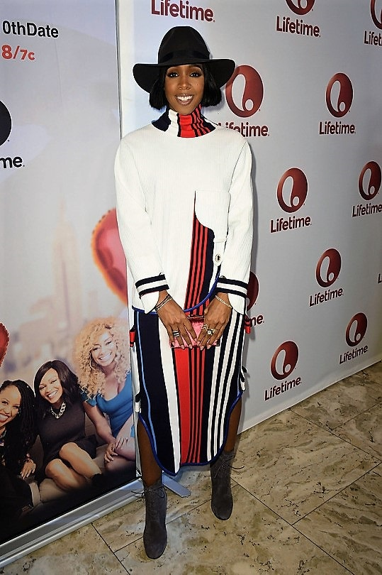 "Award winning singer-songwriter and actress Kelly Rowland pictured at the screening of Lifetime film, ""Love by the 10th Date"" held at the London West Hollywood January 23, 2017.(Courtesy of Fashion Bomb Daily)"