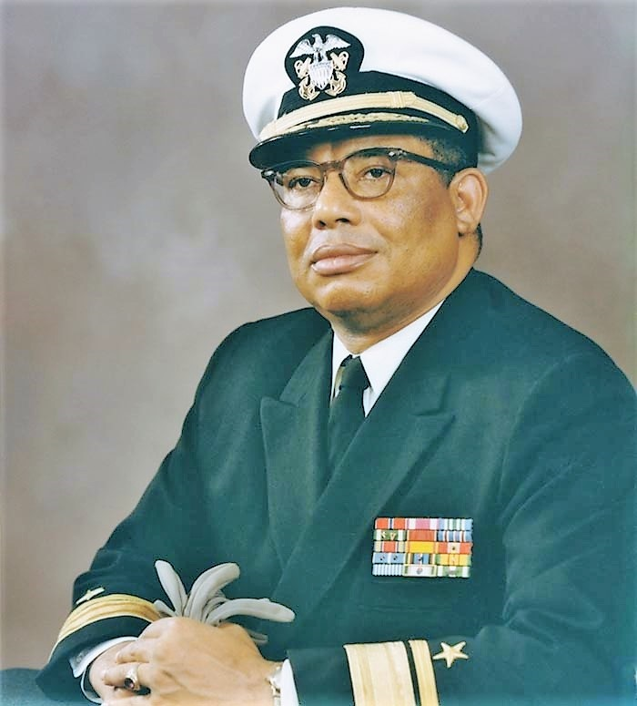 Samuel L. Gravely, the first African American to command a Navy warship.