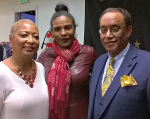 Southern University Alumni Los Angeles Chapter President Camille Mayo (center) with fellow alumni Lenora Dugas (left) and Edmond Dugas (right). (Courtesy Photo)