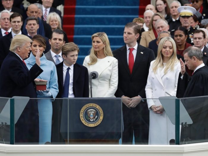 African Americans, Hispanics and other minorities were visibly absent during President Donald Trump's Inauguration. ( Photo Courtsey ABC News)